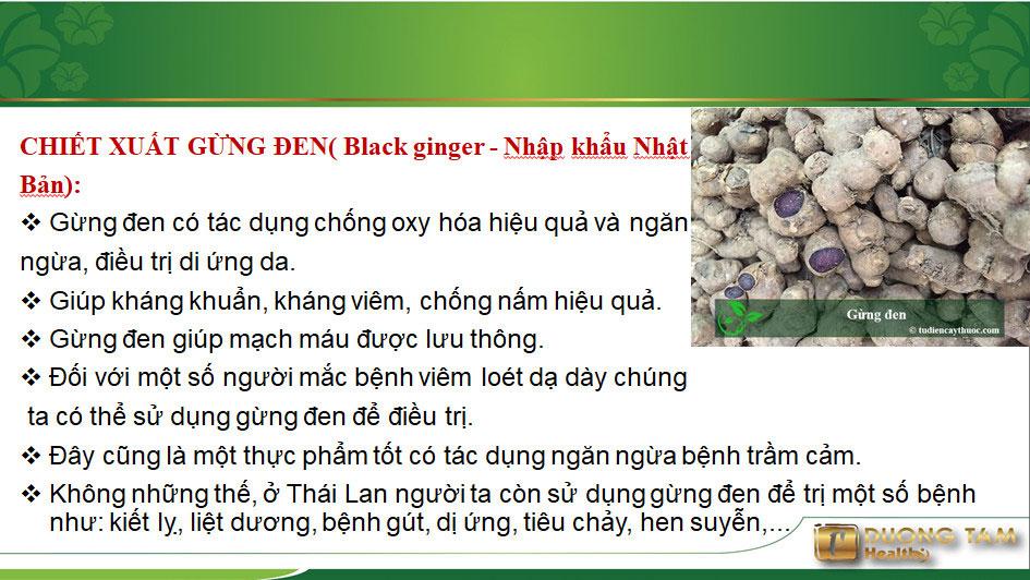 Yanggu có thành phần gừng đen
